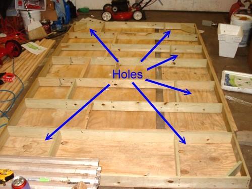 Dřevěná podlaha na roštu
