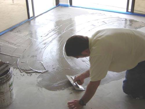Vyrovnání podkladu podlahy