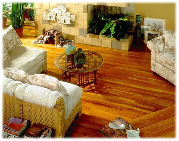 Lepená dřevěná podlaha